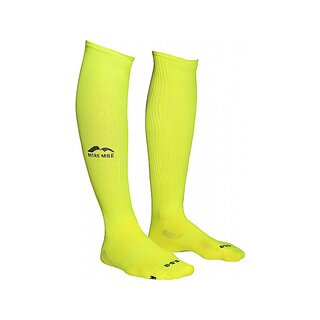 More Mile lange Kompressions-Socken California neon gelb